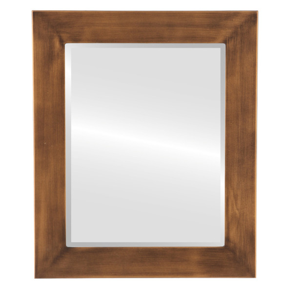 Beveled Mirror - Avenue Rectangle Frame - Sunset Gold
