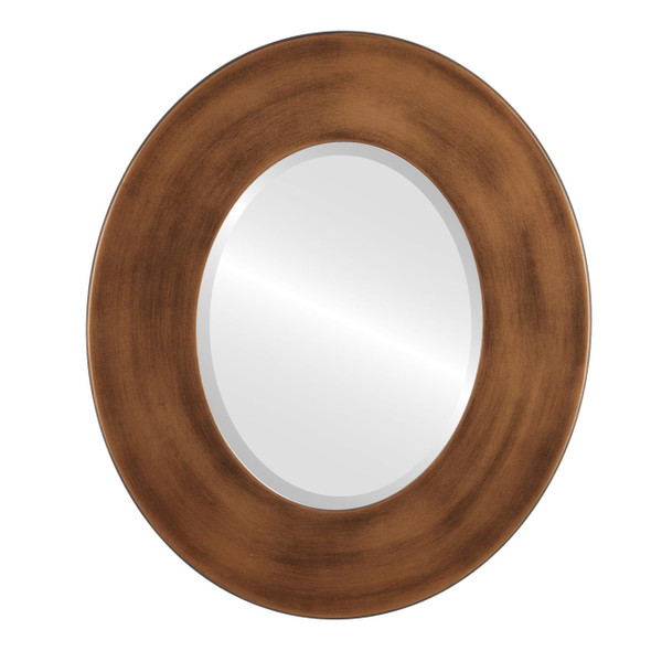 Beveled Mirror - Boulevard Oval Frame - Sunset Gold