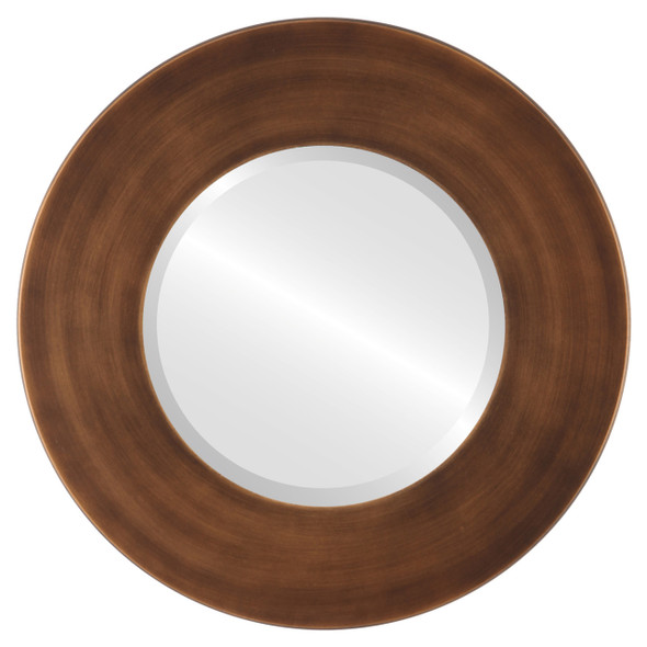 Beveled Mirror - Boulevard Round Frame - Sunset Gold