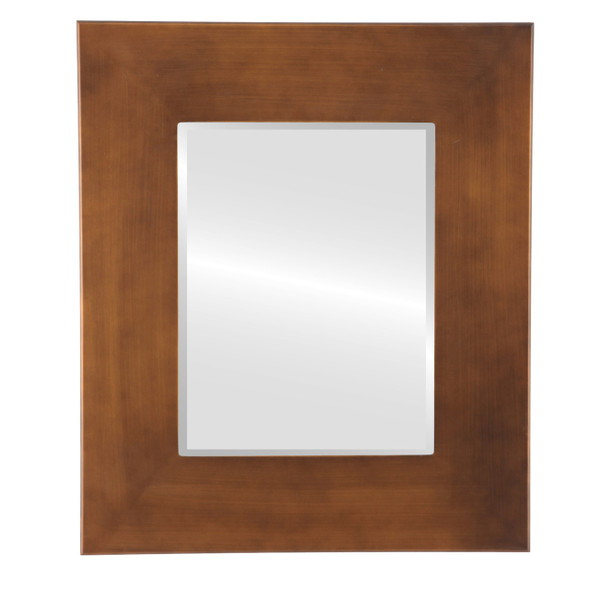 Beveled Mirror - Boulevard Rectangle Frame - Sunset Gold
