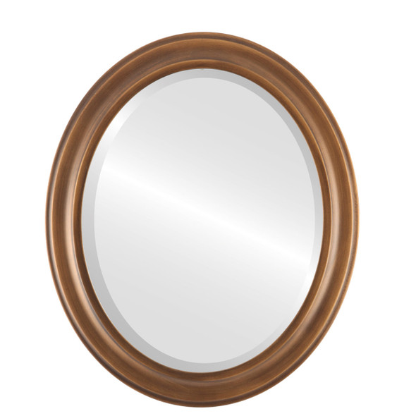 Beveled Mirror - Messina Oval Frame - Sunset Gold