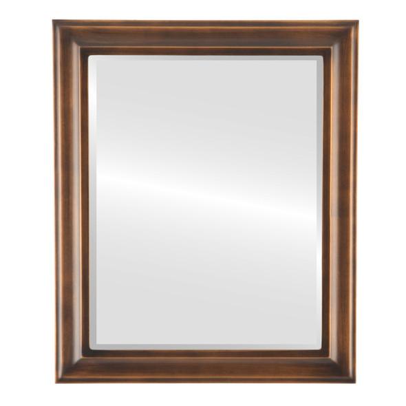 Beveled Mirror - Messina Rectangle Frame - Sunset Gold