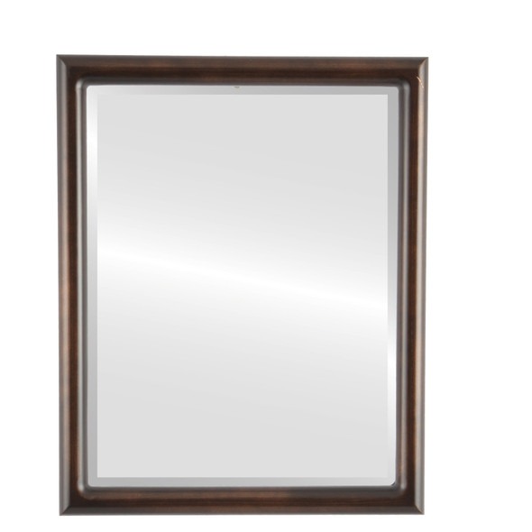 Bevelled Mirror - Pasadena Rectangle Frame - Rubbed Bronze