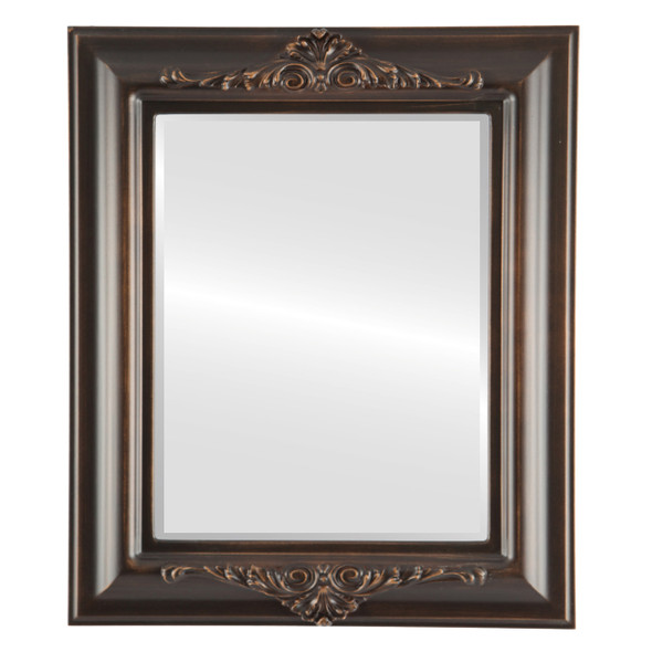 Beveled Mirror - Winchester Rectangle Frame - Rubbed Bronze