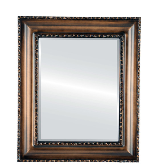 Beveled Mirror - Somerset Rectangle Frame - Rubbed Bronze