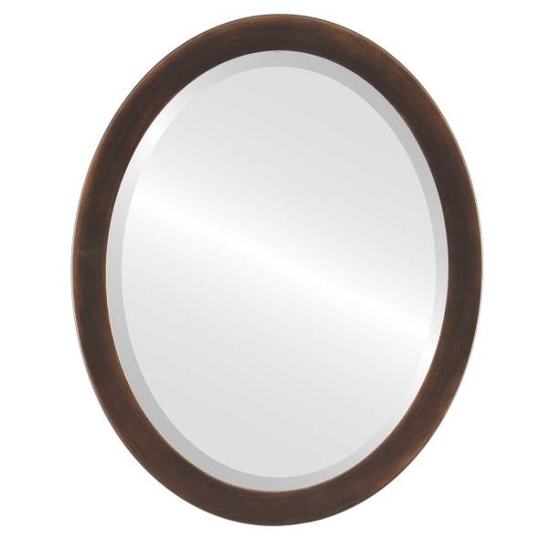 Beveled Mirror - Vienna Oval Frame - Rubbed Bronze