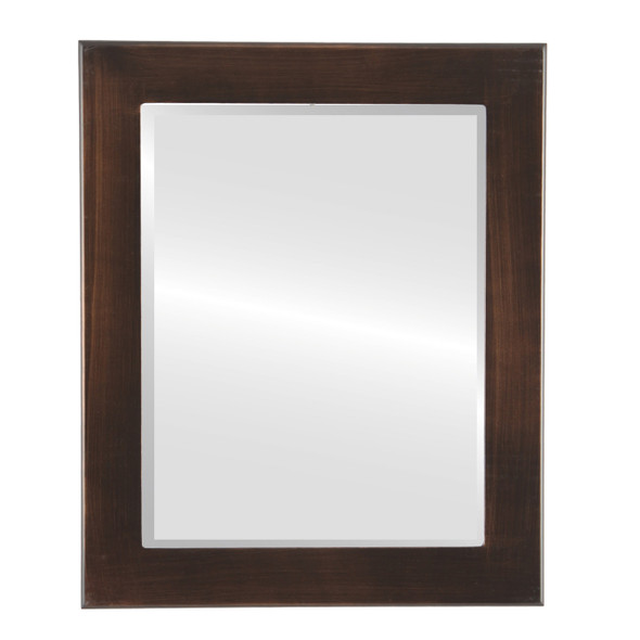 Beveled Mirror - Vienna Rectangle Frame - Rubbed Bronze