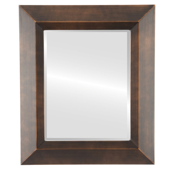 Beveled Mirror - Veneto Rectangle Frame - Rubbed Bronze