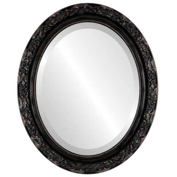 Beveled Mirror - Rome Oval Frame - Rubbed Bronze