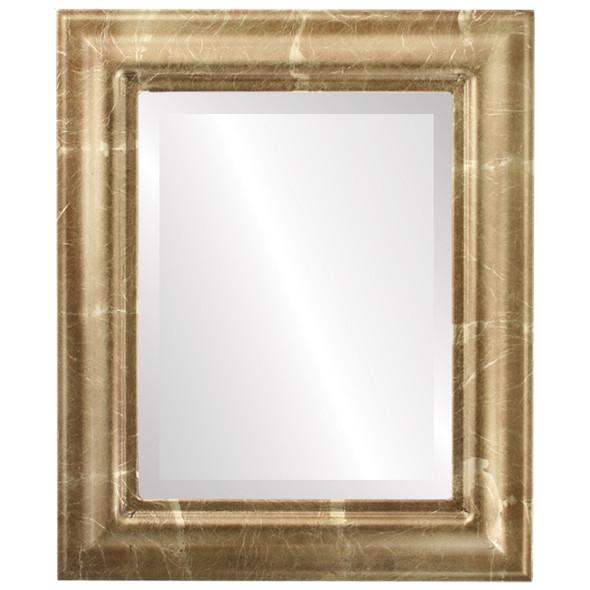 Beveled Mirror - Lancaster Rectangle Frame - Champagne Gold