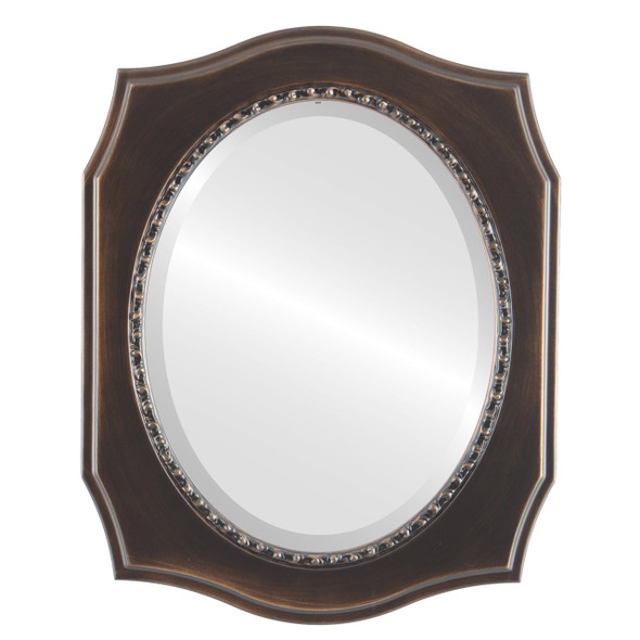 Beveled Mirror - San Francisco Oval Frame - Rubbed Bronze