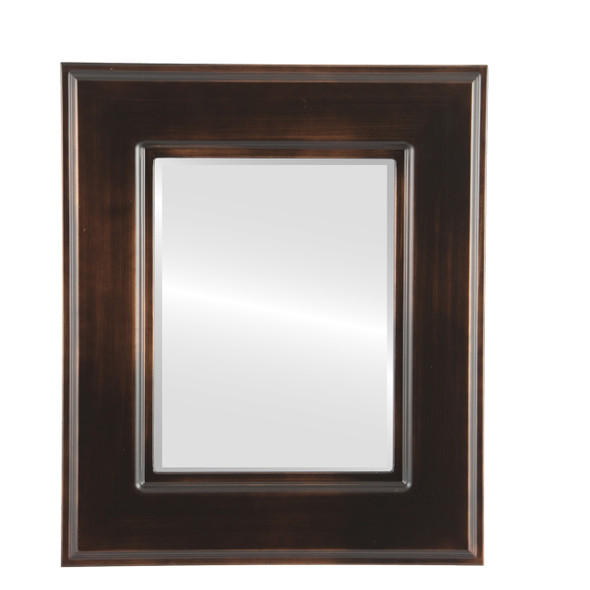 Beveled Mirror - Marquis Rectangle Frame - Rubbed Bronze