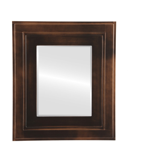 Beveled Mirror - Palomar Rectangle Frame - Rubbed Bronze