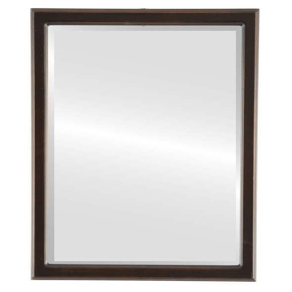 Beveled Mirror - Toronto Rectangle Frame - Rubbed Bronze