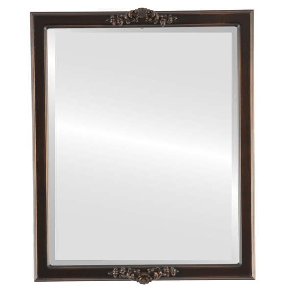 Beveled Mirror - Athena Rectangle Frame - Rubbed Bronze