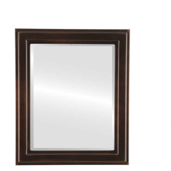 Beveled Mirror - Wright Rectangle Frame - Rubbed Bronze