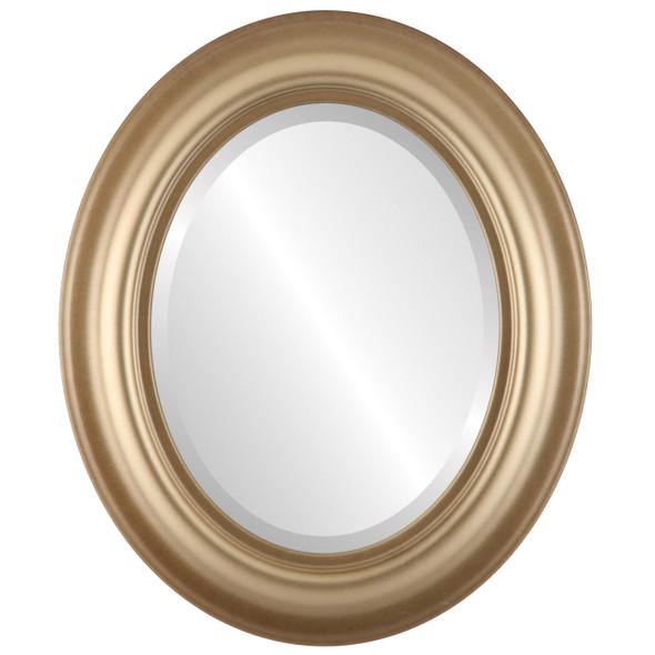 Beveled Mirror - Lancaster Oval Frame - Desert Gold