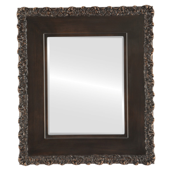 Beveled Mirror - Williamsburg Rectangle Frame - Rubbed Bronze