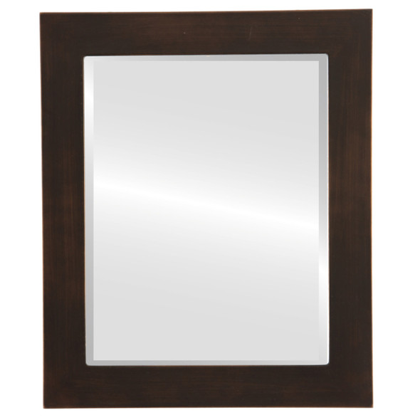 Beveled Mirror - Soho Rectangle Frame - Rubbed Bronze