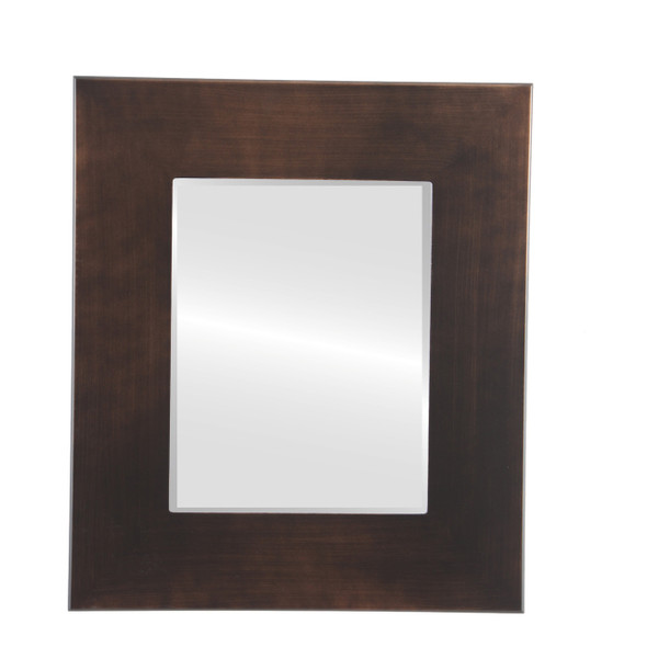 Beveled Mirror - Tribeca Rectangle Frame - Rubbed Bronze