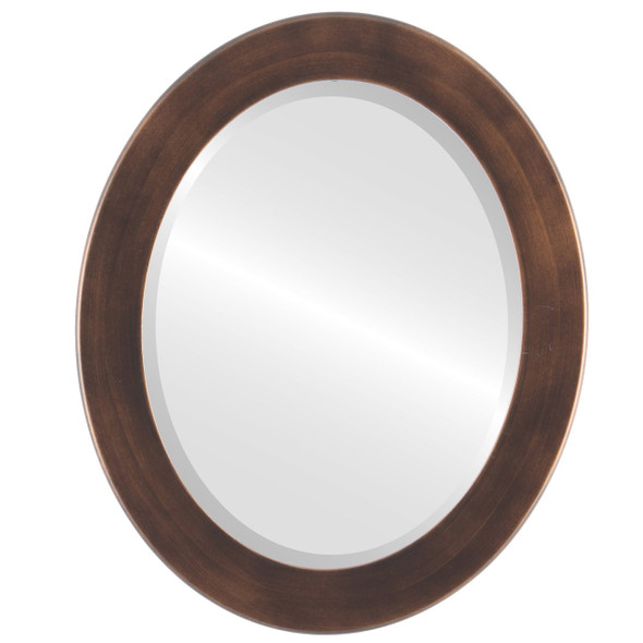 Beveled Mirror - Avenue Oval Frame - Rubbed Bronze