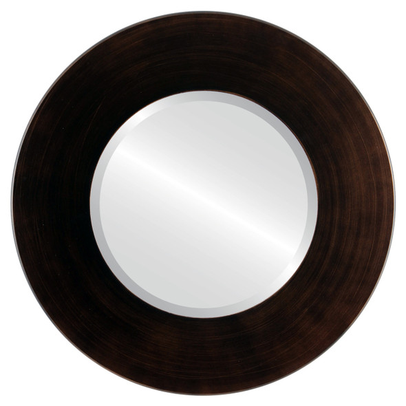 Beveled Mirror - Boulevard Round Frame - Rubbed Bronze