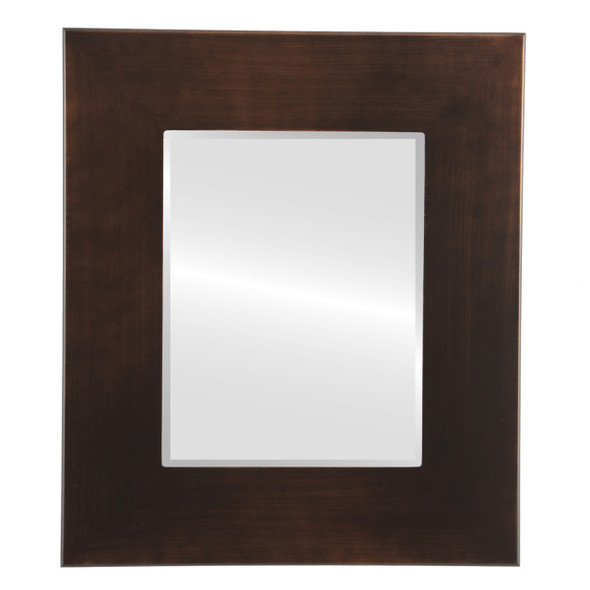 Beveled Mirror - Boulevard Rectangle Frame - Rubbed Bronze