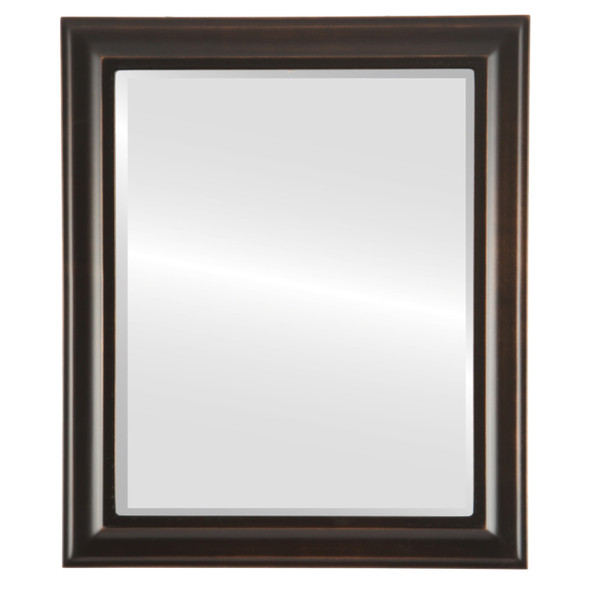 Beveled Mirror - Messina Rectangle Frame - Rubbed Bronze