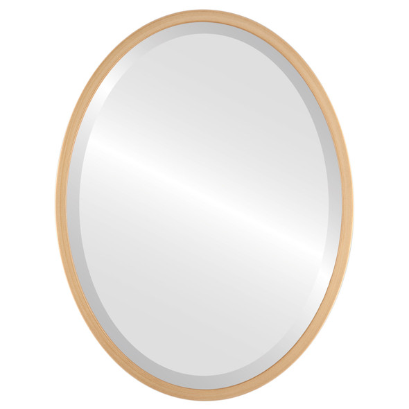 Bevelled Mirror - London Oval Frame - Gold Paint