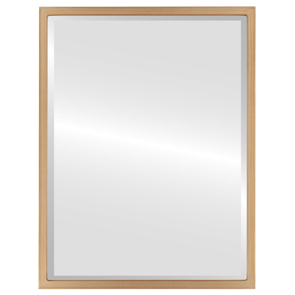 Bevelled Mirror - London Rectangle Frame - Gold Paint