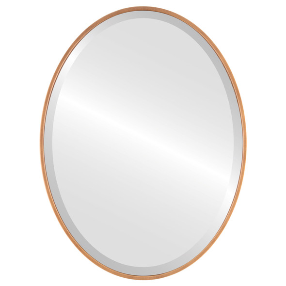 Bevelled Mirror - Singapore Oval Frame - Sunset Gold