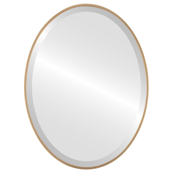 Bevelled Mirror - Singapore Oval Frame - Gold Spray