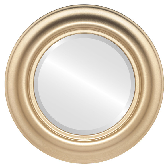 Beveled Mirror - Lancaster Round Frame - Gold Spray