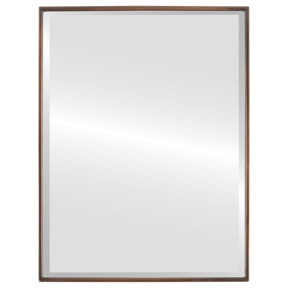 Bevelled Mirror - Singapore Rectangle Frame - Rubbed Bronze