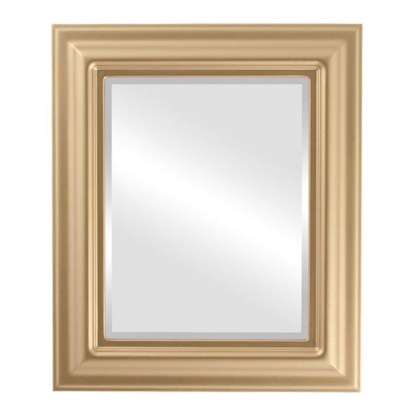 Beveled Mirror - Lancaster Rectangle Frame - Gold Spray
