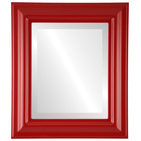 Beveled Mirror - Lancaster Rectangle Frame - Holiday Red