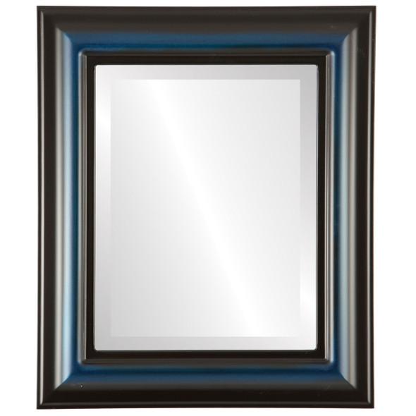 Beveled Mirror - Lancaster Rectangle Frame - Royal Blue