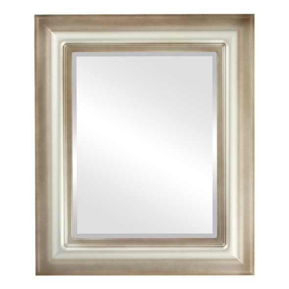 Beveled Mirror - Lancaster Rectangle Frame - Silver Shade