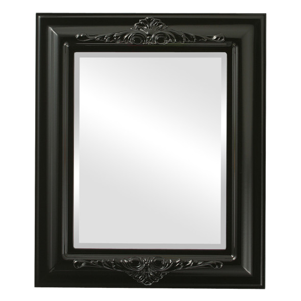 Beveled Mirror - Winchester Rectangle Frame - Gloss Black
