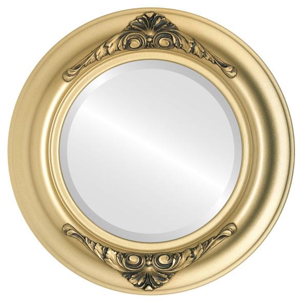 Beveled Mirror - Winchester Round Frame - Gold Spray