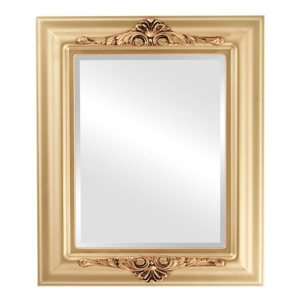 Beveled Mirror - Winchester Rectangle Frame - Gold Spray