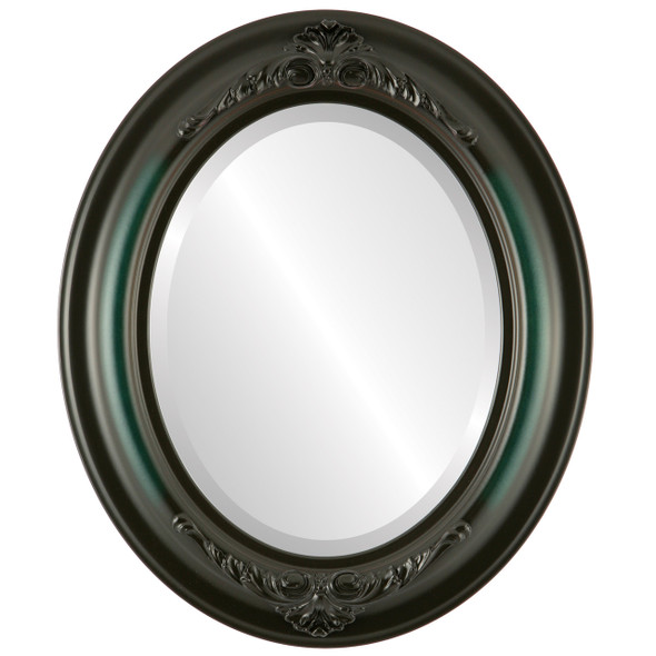 Beveled Mirror - Winchester Oval Frame - Hunter Green