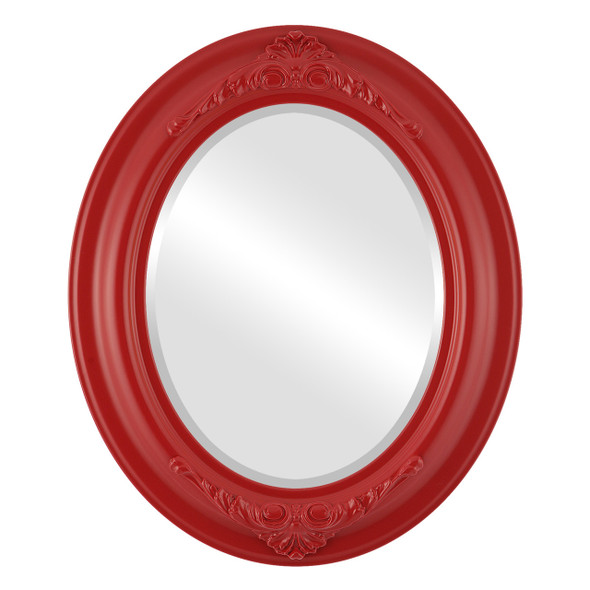 Beveled Mirror - Winchester Oval Frame - Holiday Red
