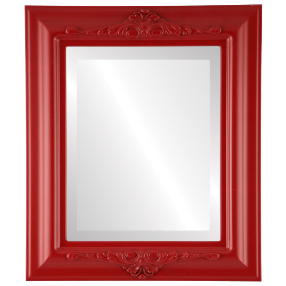 Beveled Mirror - Winchester Rectangle Frame - Holiday Red