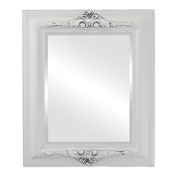 Beveled Mirror - Winchester Rectangle Frame - Linen White