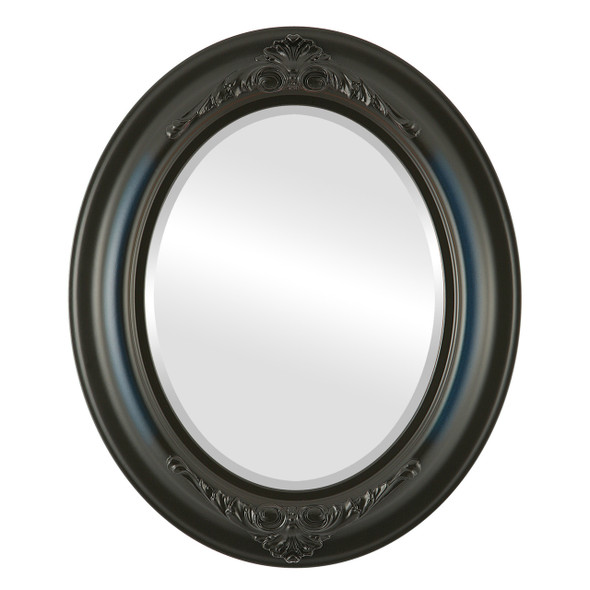 Beveled Mirror - Winchester Oval Frame - Royal Blue