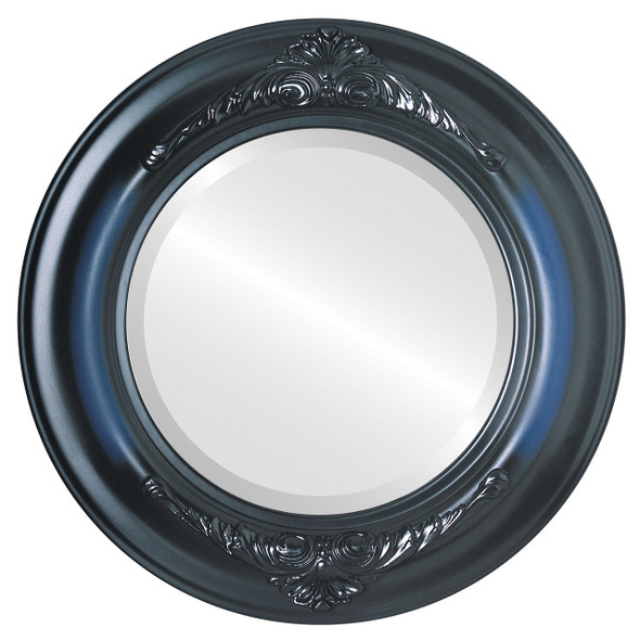 Beveled Mirror - Winchester Round Frame - Royal Blue