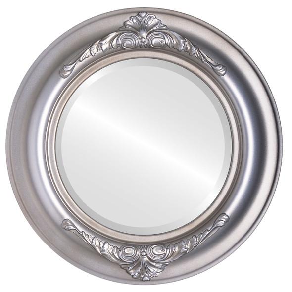 Beveled Mirror - Winchester Round Frame - Silver Shade