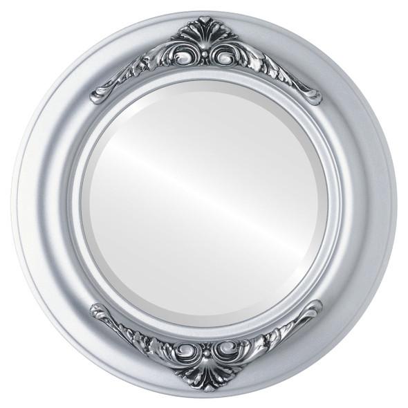 Beveled Mirror - Winchester Round Frame - Silver Spray