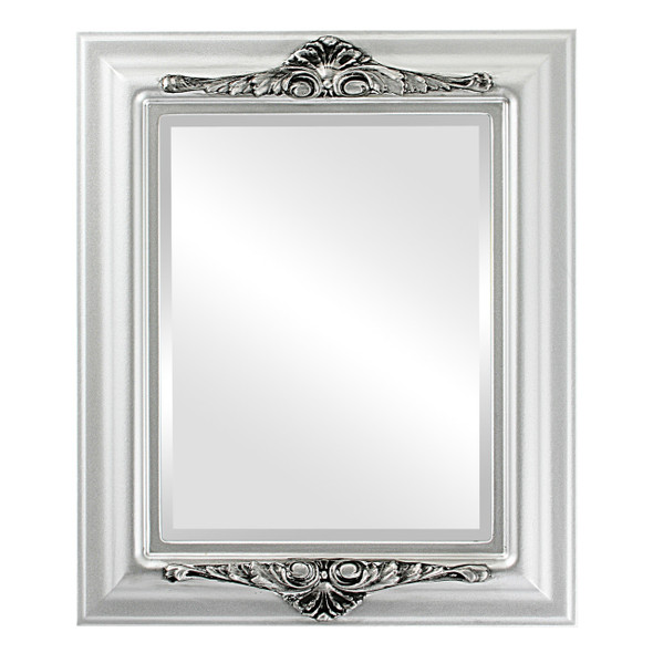 Beveled Mirror - Winchester Rectangle Frame - Silver Spray